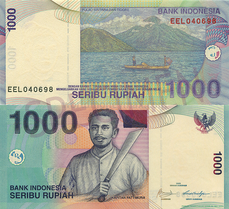 1000 Rupiah 2009 Republic Of Indonesia