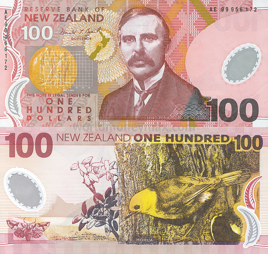 New Zealand 100 Dollar 1992 Banknote