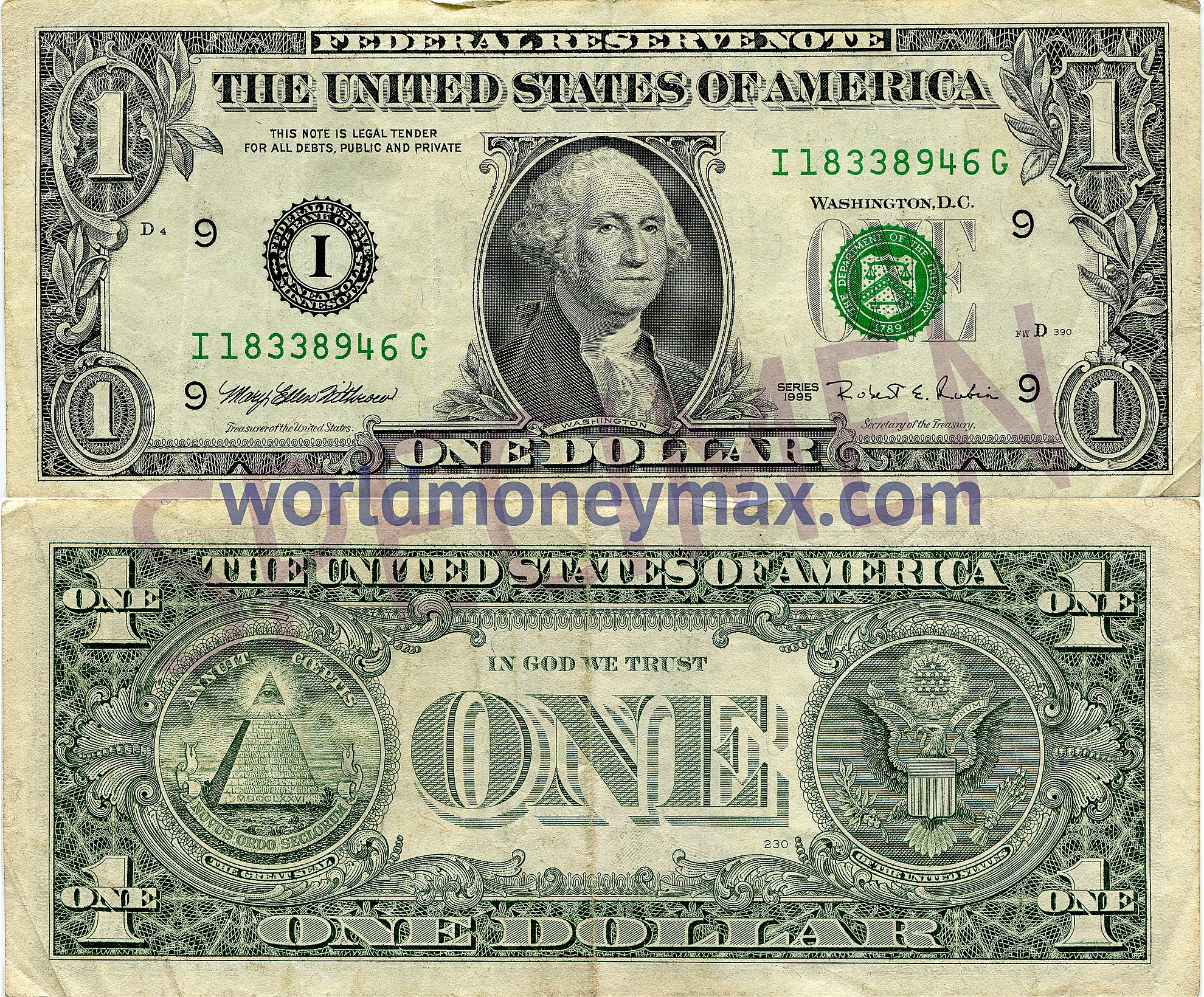 Usa 1 Dollar 1995 Banknote Worldmoneymax Com The United