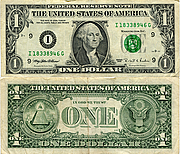 Banknote USA 1 Dollar 1995