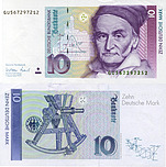 Banknote Germany 10 Mark 1991