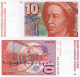 Banknote Switzerland 10 Franc 1997