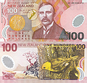 Banknote New Zealand 100 Dollar 1992