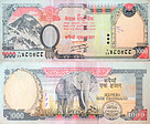 Banknote India 1000 Rupee 2012