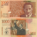 Banknote Colombia 1000 Peso 2009