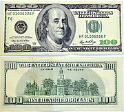 Banknote USA 100 Dollar 2006