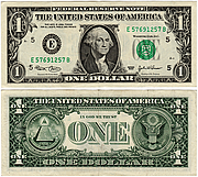 Banknote USA 1 Dollar 2003