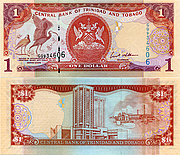Banknote Trinidad And Tobago 1 Dollar 2006