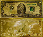 Banknote USA 2 Souvenir Money 2016