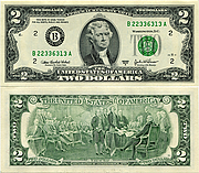 Banknote USA 2 Dollar 2003