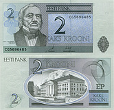 Banknote Estonia 2 Kroon 2006