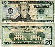 Banknote USA 20 Dollar 2004