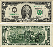Banknote USA 2 Dollar 1995