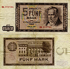 Banknote Germany 5 Mark 1964