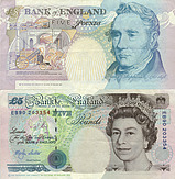 Banknote Great Britain 5 Pound 1990