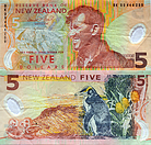 Banknote New Zealand 5 Dollar 2006