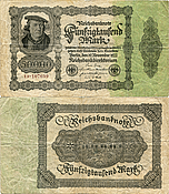 Banknote Germany 50000 Mark 1922