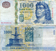 Banknote Hungary 1000 Forint 2005