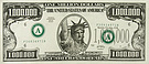 Banknote USA 1 Million Dollar 1998